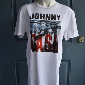 * Lucky Brand Johnny Cash White Short Sleeve Tee